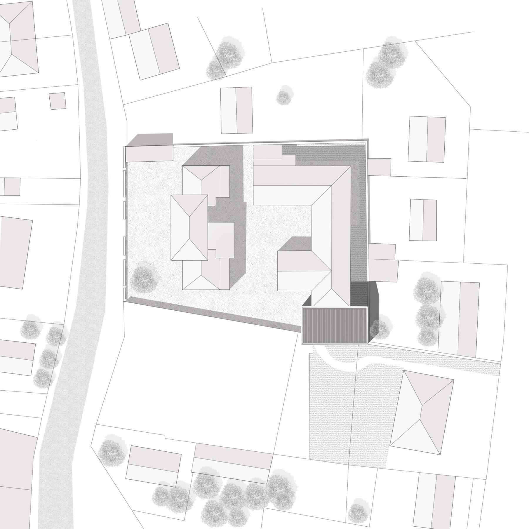 Salle périscolaire - Chambry - Plan masse