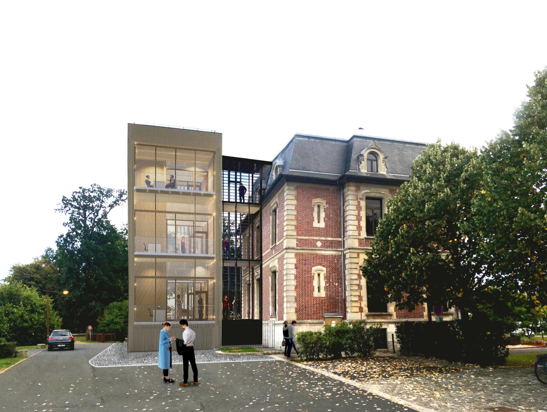 Perspective du projet de l'extension de la Mairie d'Othis